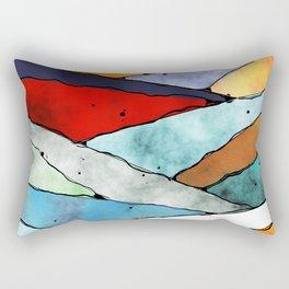Angles of Textured Colors Rectangular Pillow