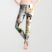 lol Leggings featuring Muppet Alphabet by Mike Boon
