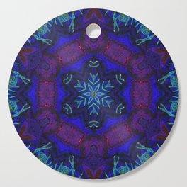 Bioluminescent Tribal Lotus Cutting Board
