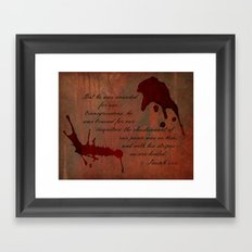 Calvary's Blood Framed Art Print