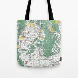 Pacific Northwest Map Tote Bag
