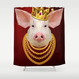 The King of Pigs Shower Curtain