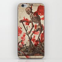 tarot iPhone & iPod Skins featuring Death Tarot by Bedlam Supply Co.