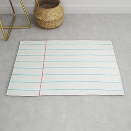 lined paper Rug