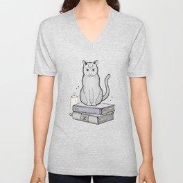 Witches Cat Unisex V-Neck