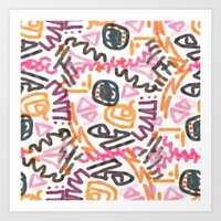 Squiggly  Art Print