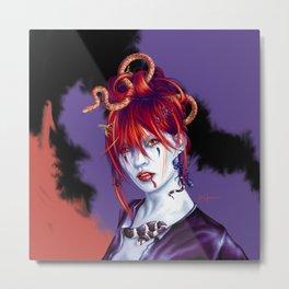 Lil' Bit Geisha, Lil' Bit Vampire, Lil' Bit Medusa Metal Print