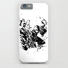 Todoroki Shoto Ink Splatter iPhone Case