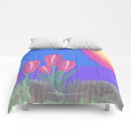 FLOWERS IN THE SUN V3 - 023 Comforters