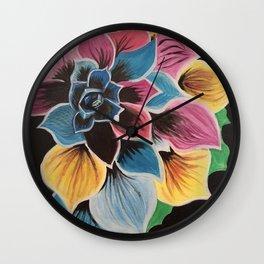 Colourful Flower by Noelle's Art Loft Wall Clock