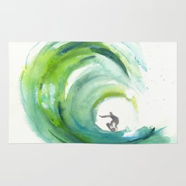 Wave with Surfer Rug