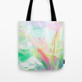 Tropical Pastel Palm Tote Bag