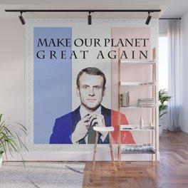 Macron Global Warming Climate Change Wall Mural