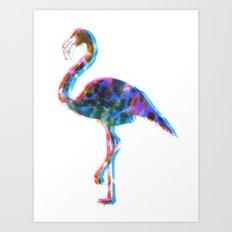 CMYK Flamingo Art Print