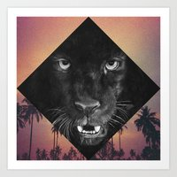 panther Art Prints featuring Panther by Jamie Mitchell
