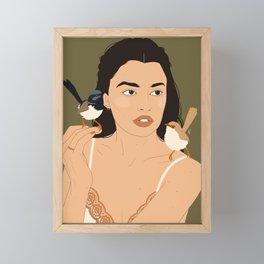Fairy Wrens Framed Mini Art Print