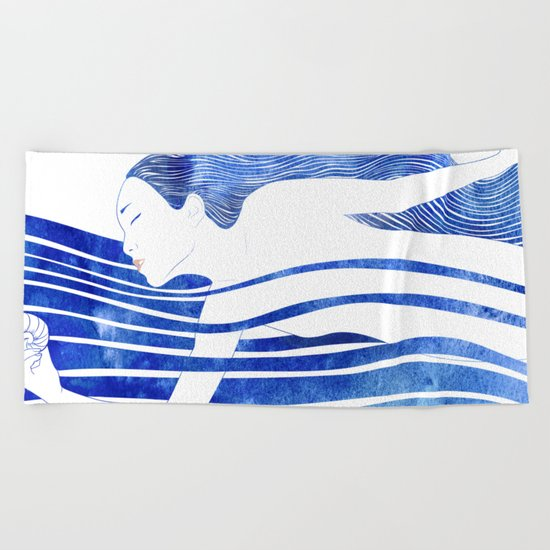 Water Nymph LXV Beach Towel