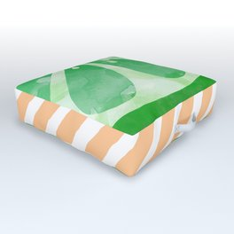 Lime Abstract Outdoor Floor Cushion