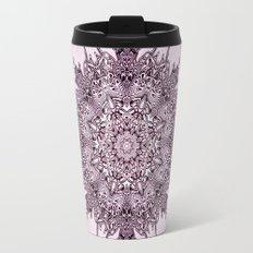 Pink Mandala Fractal Art Travel Mug