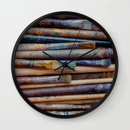 Artistic brush Wall Clock
