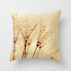 droplets of liquid gold Throw Pillow