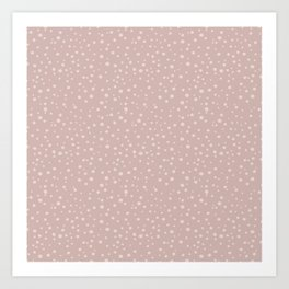 PolkaDots-Peach on Rose Art Print