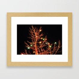 Holiday Lights Framed Art Print