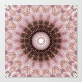 Mandala gentle blush Canvas Print