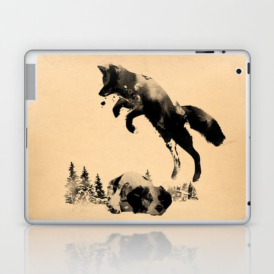 The quick brown fox jumps over the lazy dog Laptop & iPad Skin