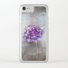 Beautiful Lilac Hydrangea Clear iPhone Case