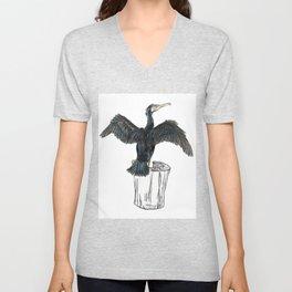 The Great Cormorant Unisex V-Neck