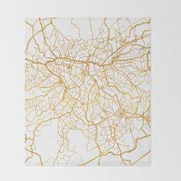 SAO PAULO CITY STREET MAP ART Throw Blanket
