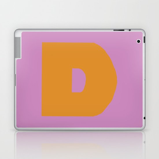 Orange D Laptop & iPad Skin