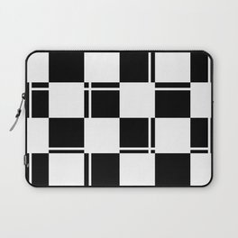 Black and white squares, crosses and lines Laptop Sleeve