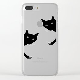 Black Cats Spy Clear iPhone Case