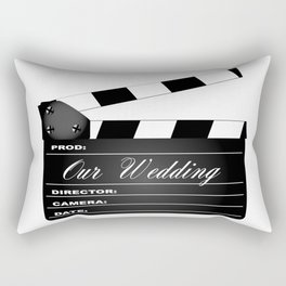 Our Wedding Clapperboard Rectangular Pillow
