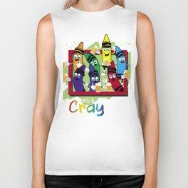 Crayon Shirt Drinking Let's Get Our CRAYon Biker Tank
