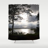 twilight Shower Curtains featuring Twilight by Rochester Studios