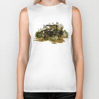 home sweet home Biker Tanks featuring Home Sweet Home by Teagan White