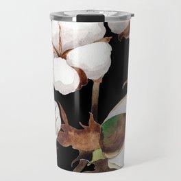Cotton Flower Pattern 03 Travel Mug