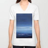 twilight V-neck T-shirts featuring Twilight  by Mila Pechenyakova