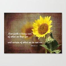 Faithful Sunflower Canvas Print