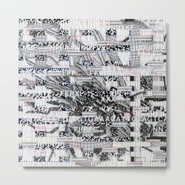 Surrender Your Information (P/D3 Glitch Collage Studies) Metal Print