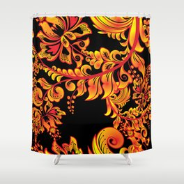 Fire ornament Shower Curtain