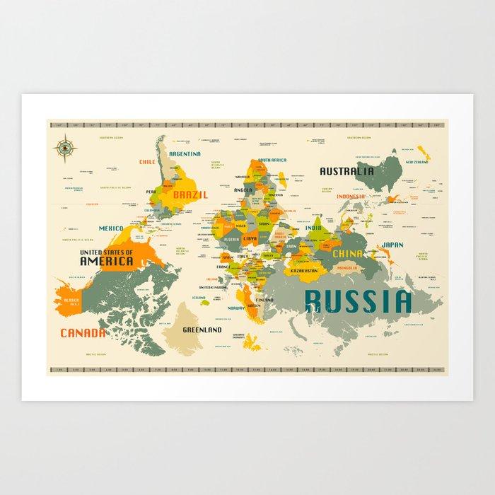 World map art print by jazzberryblue society6 world map art print gumiabroncs Gallery