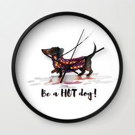 Hot Dachshund dog Wall Clock