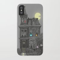 game iPhone & iPod Cases featuring Haunted by the 80's by Terry Fan