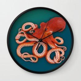 Geometric Octopus Wall Clock