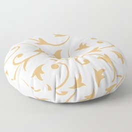 Baroque Design – Gold on Cream Floor Pillow