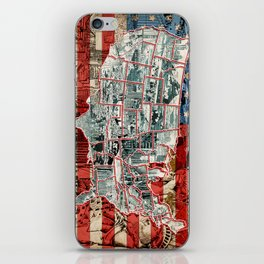 usa map urban city collage iPhone Skin